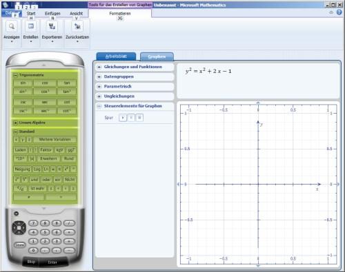 Screenshot Microsoft Mathematics