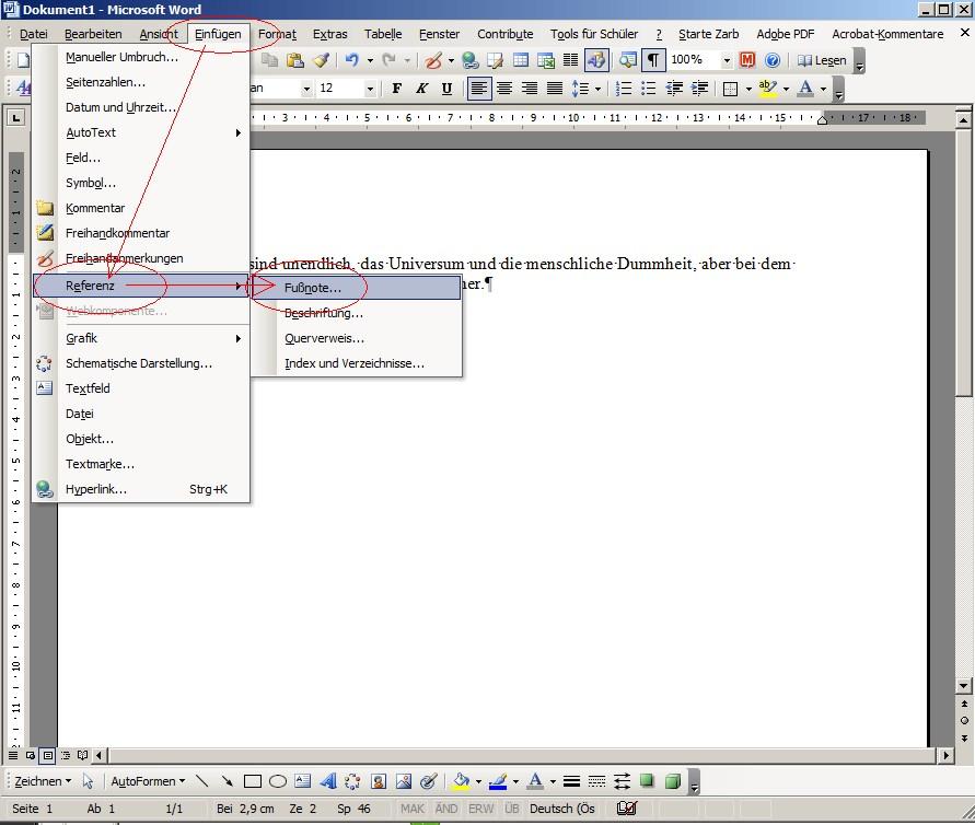 Dissertation mit word 2003