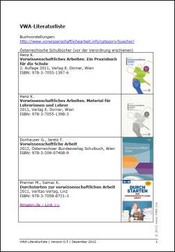 VWA- Literaturliste