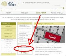 Screenshot_openscience_Internetrecherce