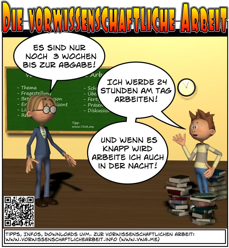 VWA Cartoon Abgabe in 3 Wochen
